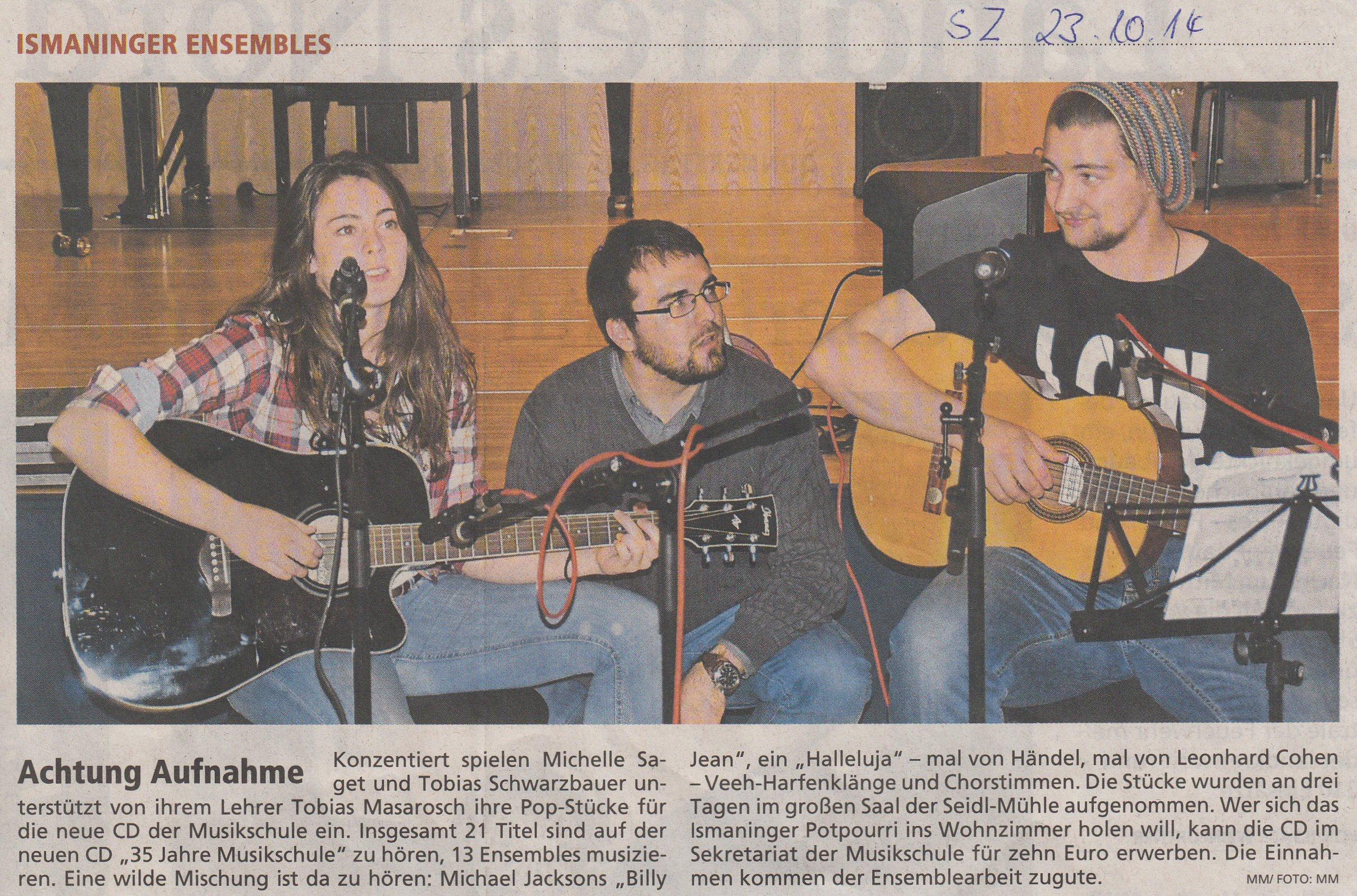 Achtung Aufnahme 23.10.2014 - Süddeutsche Zeitung