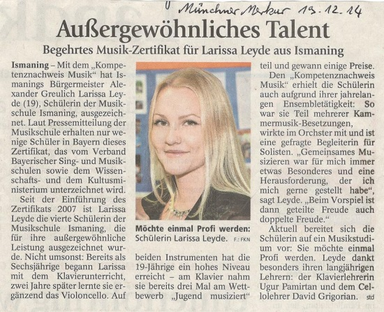 Auszeichnung Larissa Leyde_MM